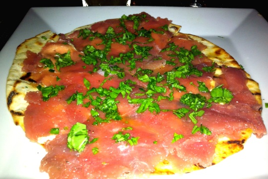 tuna flatbread